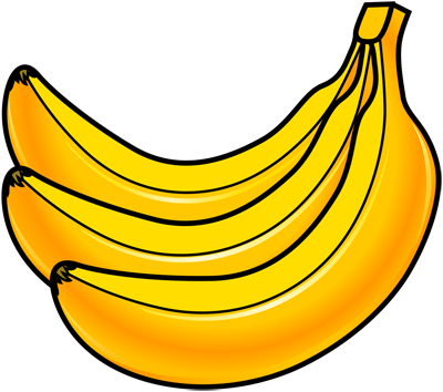 [Fruits and Berries Drawings] How to draw a Banana