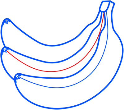 Learn easy to draw how to draw a banana 7