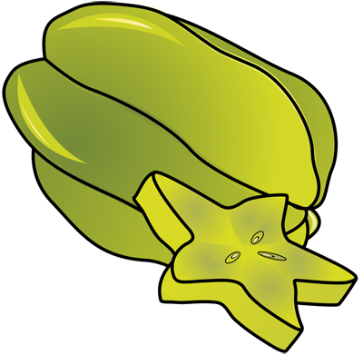 Learn easy to draw how to draw a carambola 11