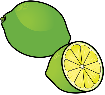 [Fruits and Berries Drawings] How to draw a Lime