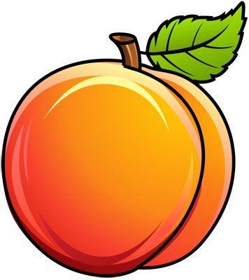 Learn easy to draw how to draw a peach 10