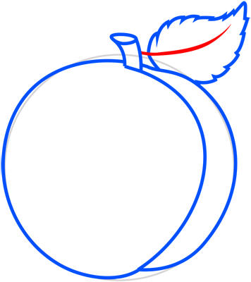Learn easy to draw how to draw a peach 7