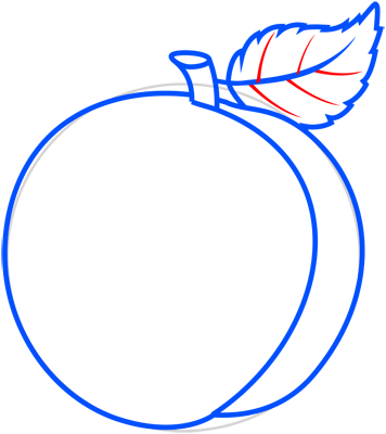 Learn easy to draw how to draw a peach 8