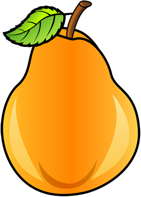 [Fruits and Berries Drawings] How to draw a Pear