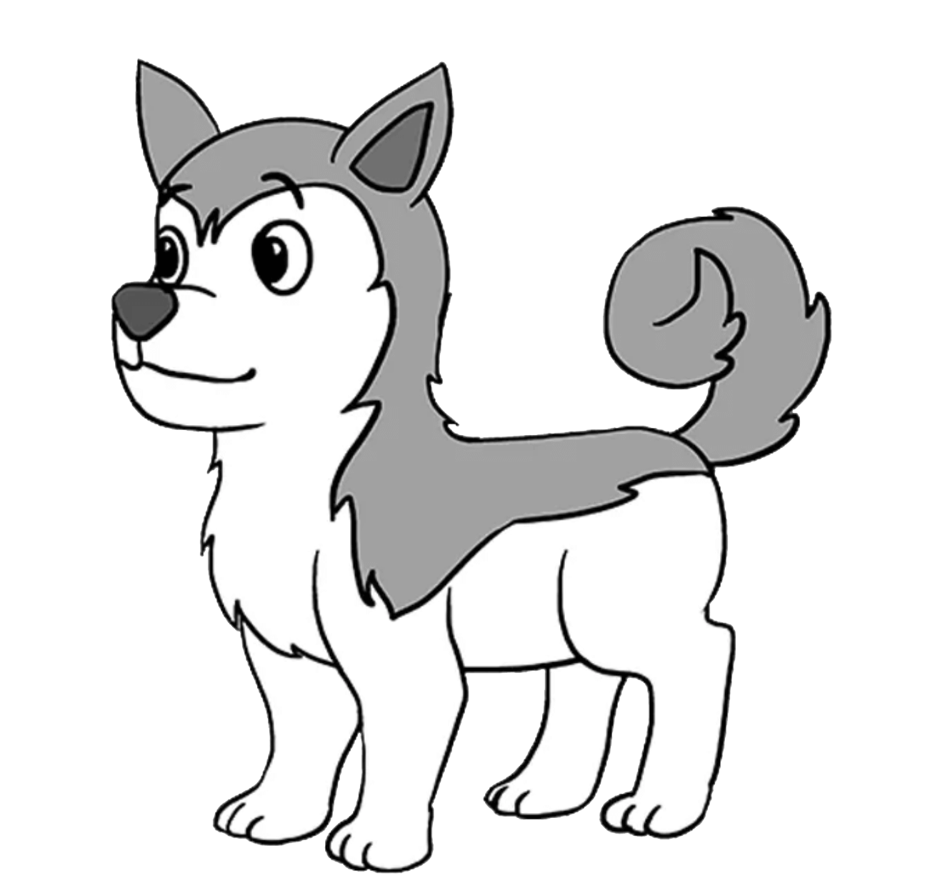 Learn how to draw a cute Siberian Husky dog