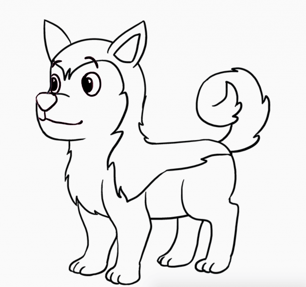 Learn easy to draw how to draw a siberian husky dog 10 1024x959