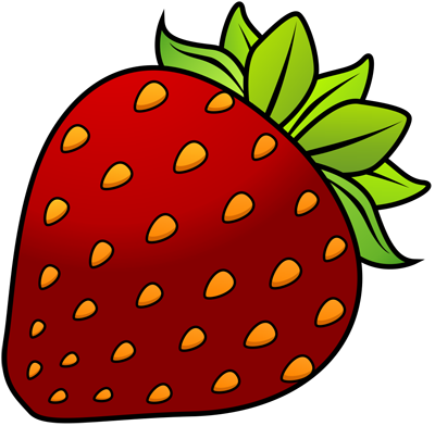 [Fruits and Berries Drawings] How to draw a Strawberry