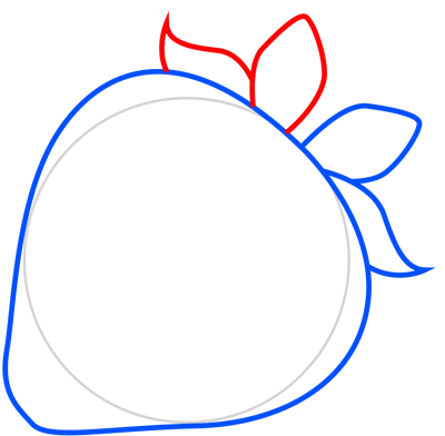 Learn easy to draw how to draw a strawberry 4