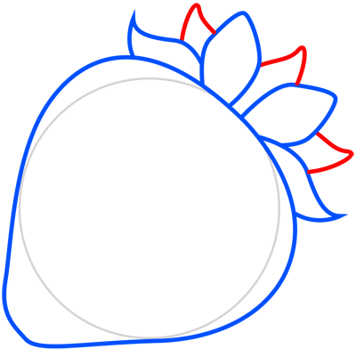Learn easy to draw how to draw a strawberry 5