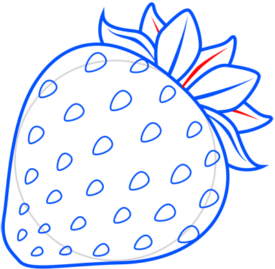 Learn easy to draw how to draw a strawberry 8