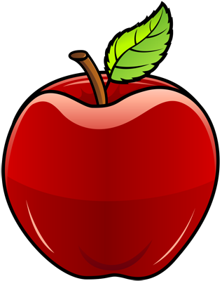 [Fruits and Berries Drawings] How to draw an Apple