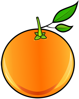[Fruits and Berries Drawings] How to draw an Orange