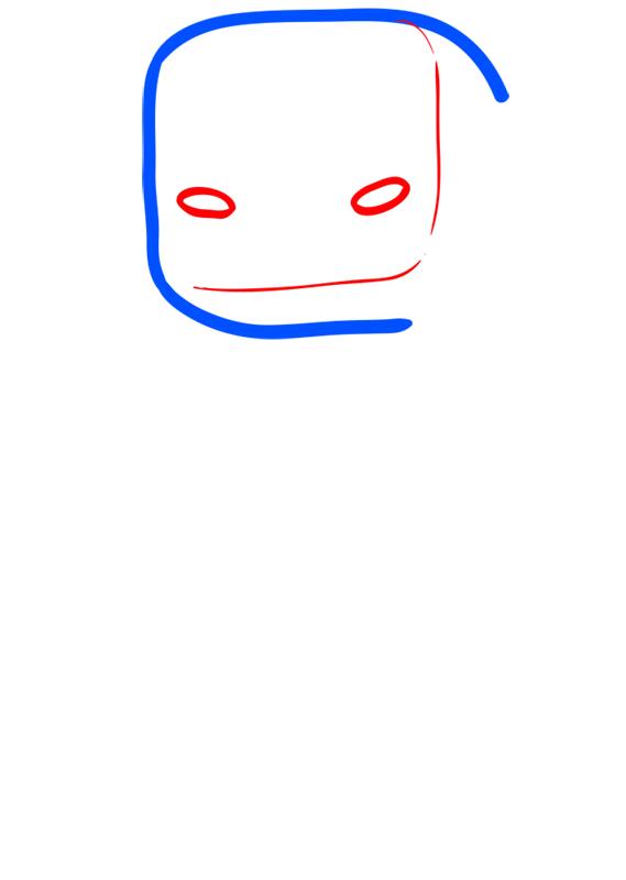 Learn easy to draw how to draw blaze minecraft chibi 2