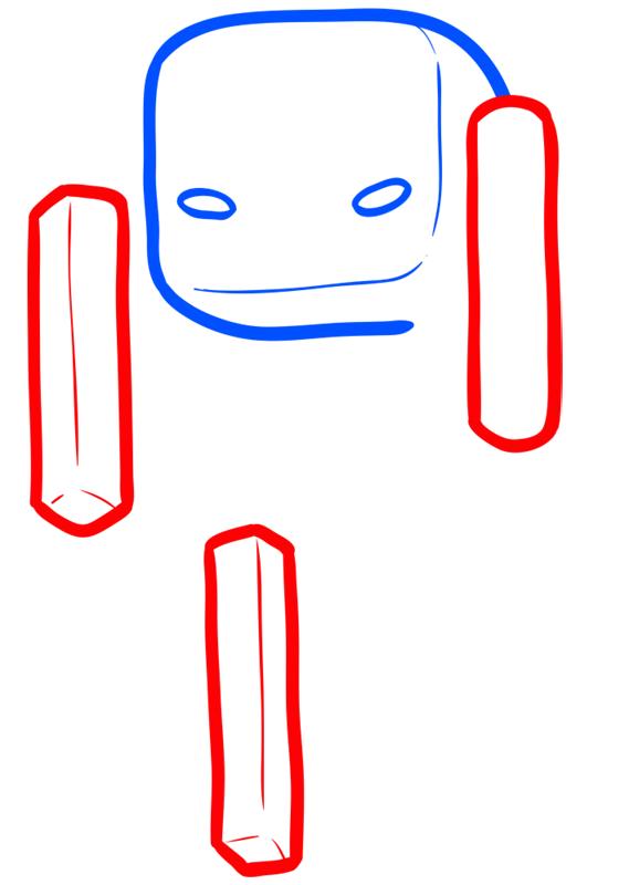 Learn easy to draw how to draw blaze minecraft chibi 3