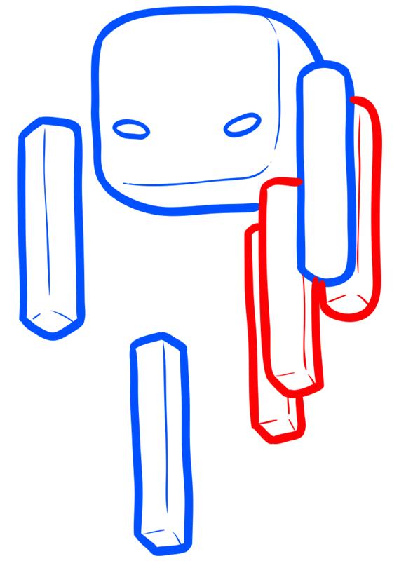 Learn easy to draw how to draw blaze minecraft chibi 4