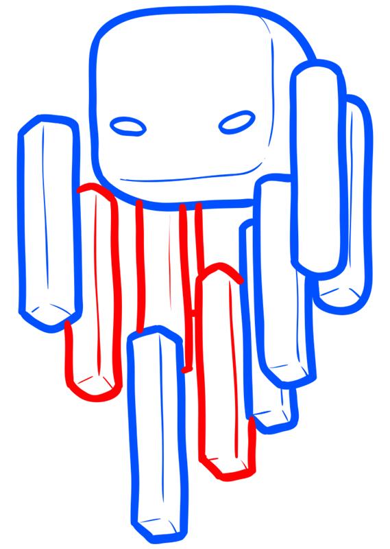 Learn easy to draw how to draw blaze minecraft chibi 5