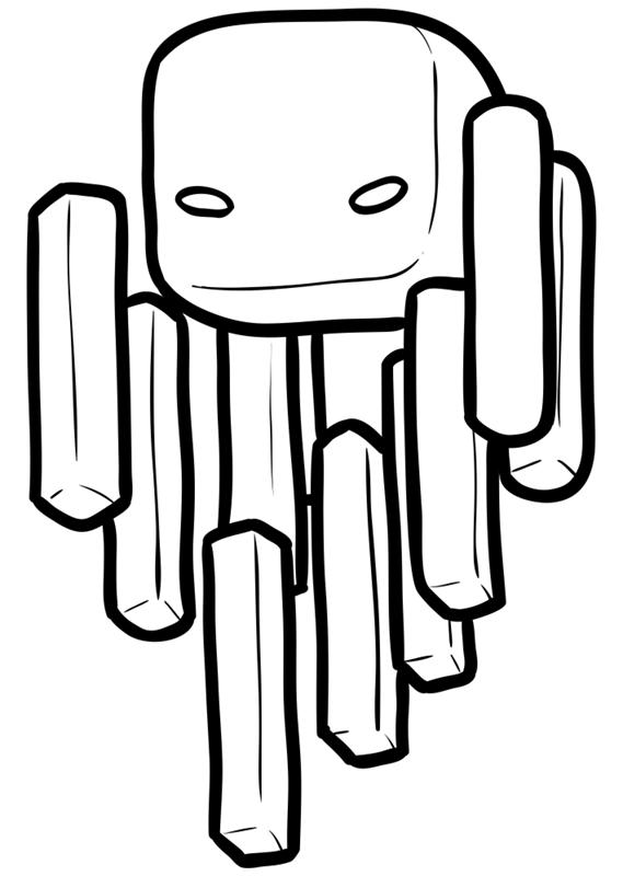 Learn easy to draw how to draw blaze minecraft chibi 6