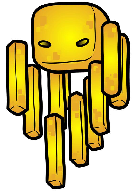 Learn easy to draw how to draw blaze minecraft chibi 7