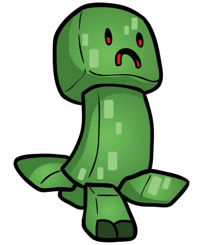 Learn easy to draw how to draw creeper minecraft chibi 7