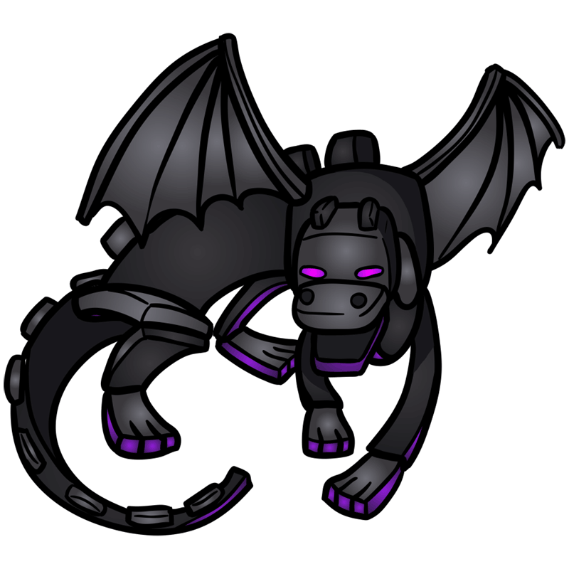 Learn easy to draw how to draw ender dragon minecraft chibi 11