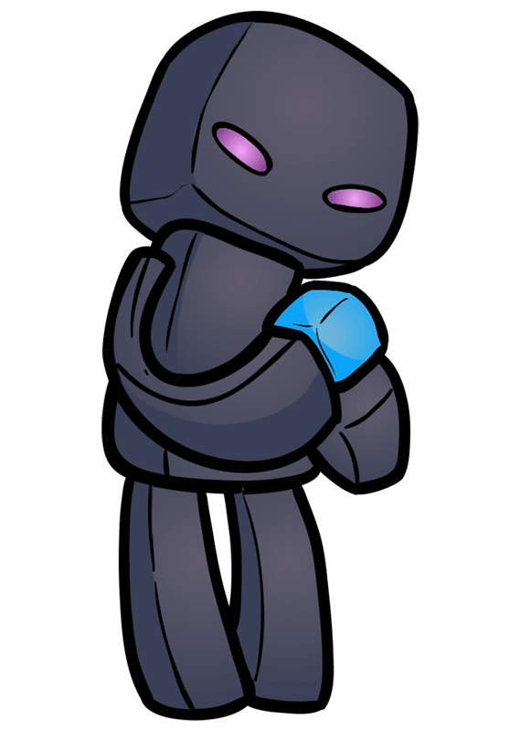 Learn easy to draw how to draw enderman minecraft chibi 8