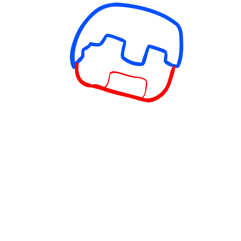 Learn easy to draw how to draw human minecraft chibi 2