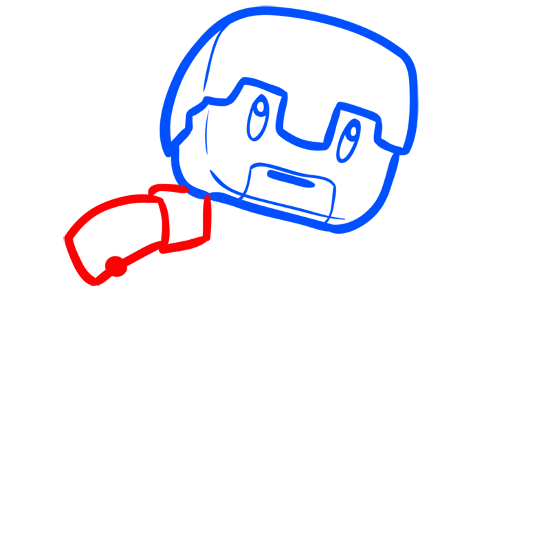 Learn easy to draw how to draw human minecraft chibi 4