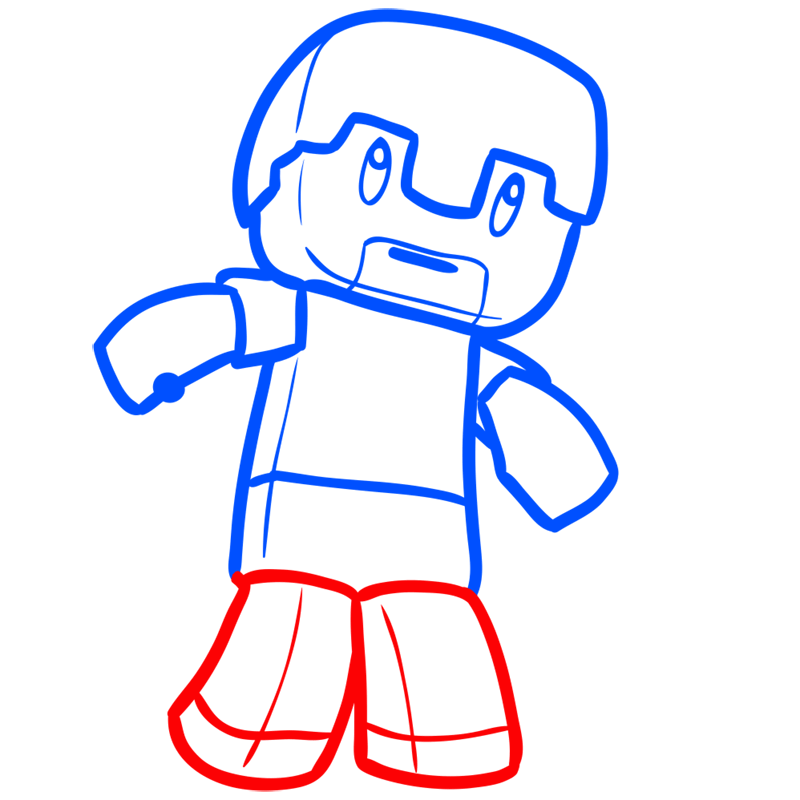 Learn easy to draw how to draw human minecraft chibi 6