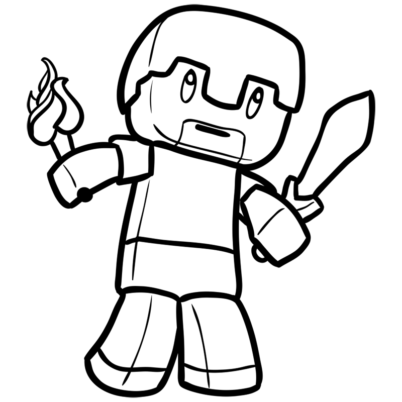 Learn easy to draw how to draw human minecraft chibi 8