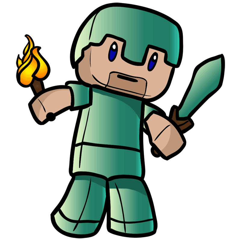 Learn easy to draw how to draw human minecraft chibi 9