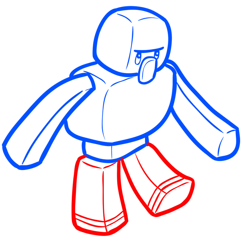 Learn easy to draw how to draw iron golem minecraft chibi 6