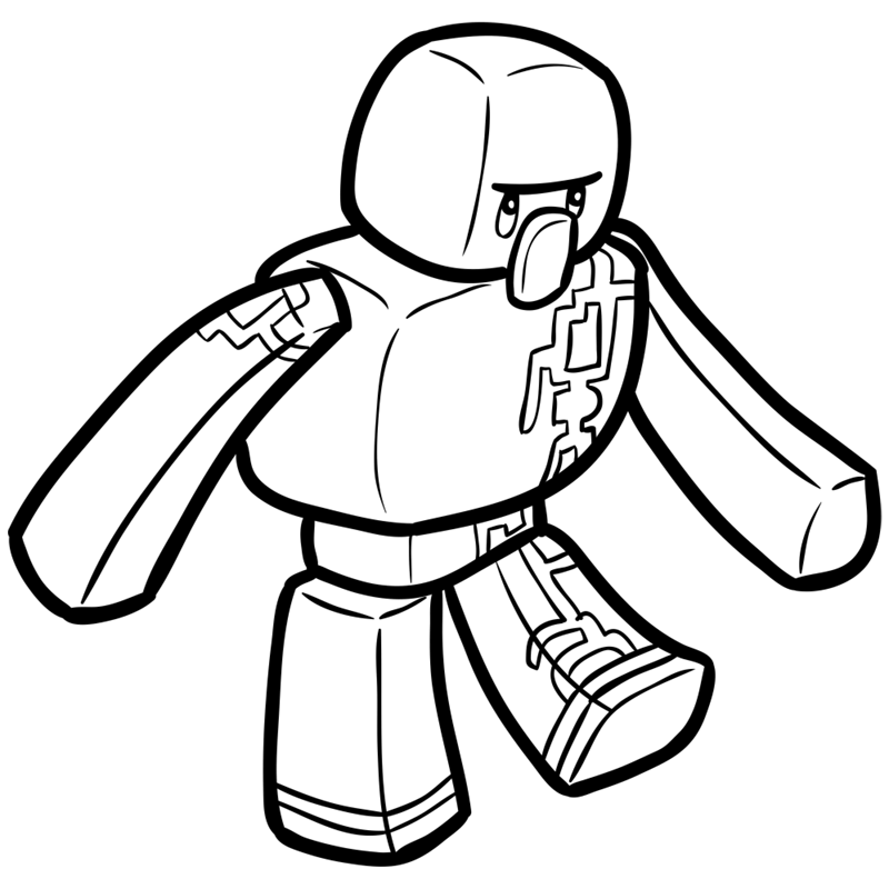 Learn easy to draw how to draw iron golem minecraft chibi 8