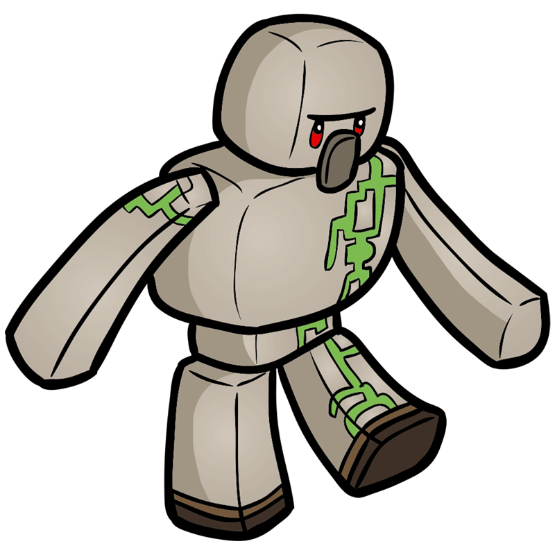 Learn easy to draw how to draw iron golem minecraft chibi 9