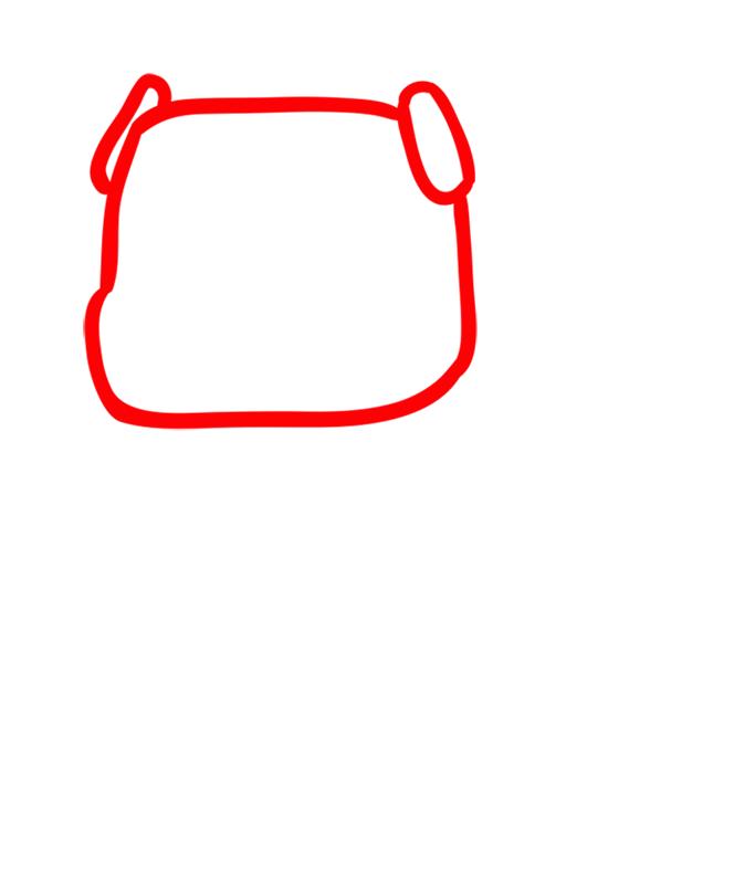 Learn easy to draw how to draw mooshroom minecraft chibi 1