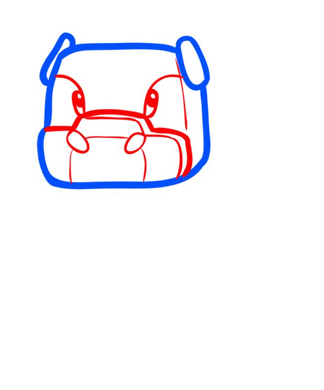Learn easy to draw how to draw mooshroom minecraft chibi 2