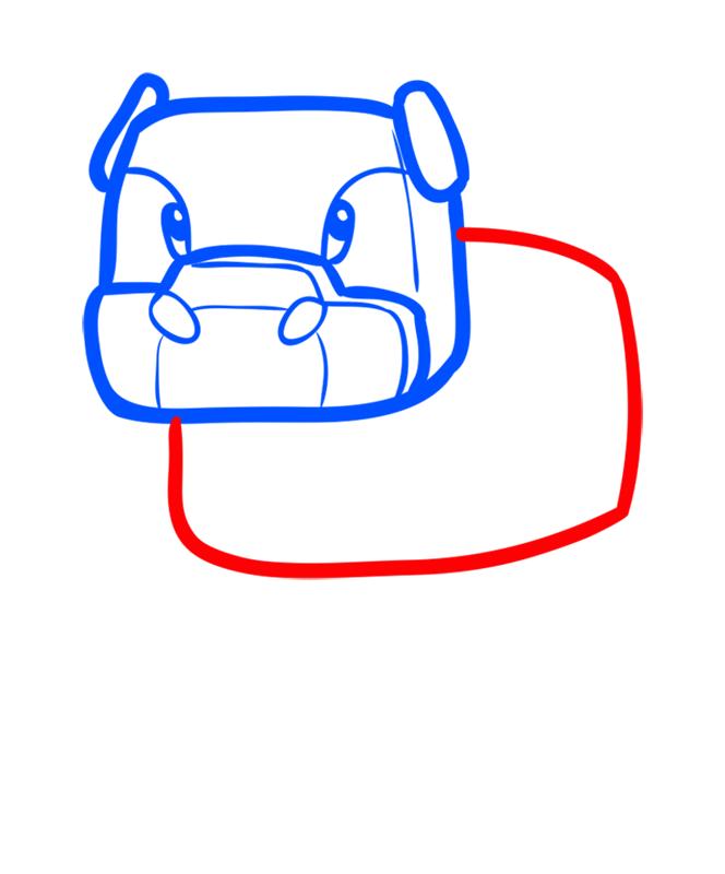 Learn easy to draw how to draw mooshroom minecraft chibi 3