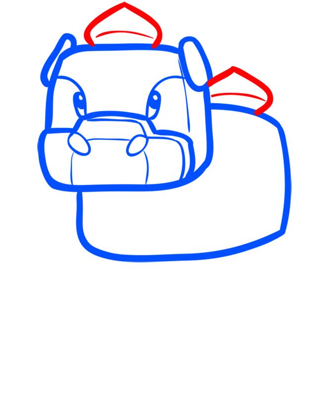 Learn easy to draw how to draw mooshroom minecraft chibi 4