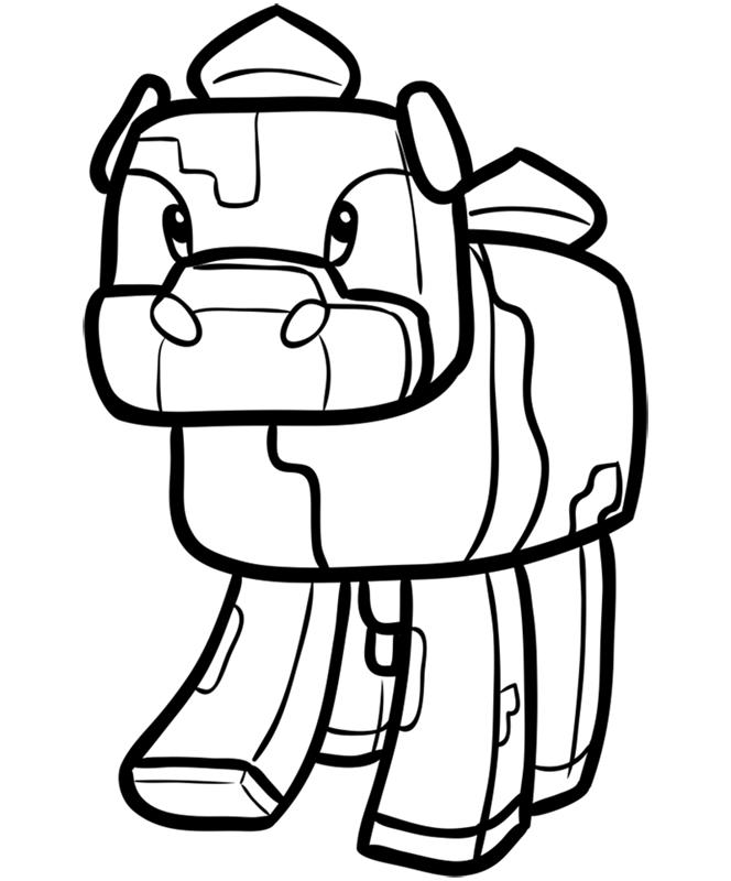 Learn easy to draw how to draw mooshroom minecraft chibi 8