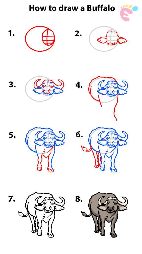 Learn easy to draw how to draw a buffalo drawing 0 576x1024