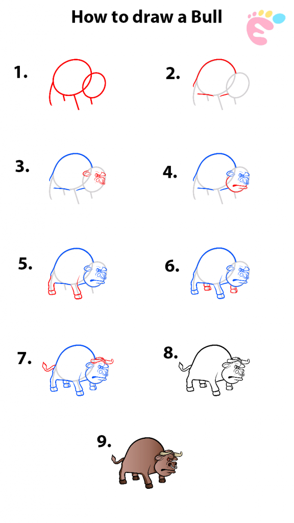 Learn easy to draw how to draw a bull drawing 0 576x1024