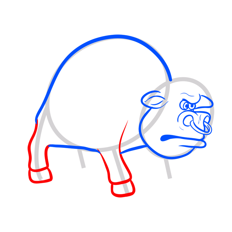 Learn easy to draw how to draw a bull drawing 5