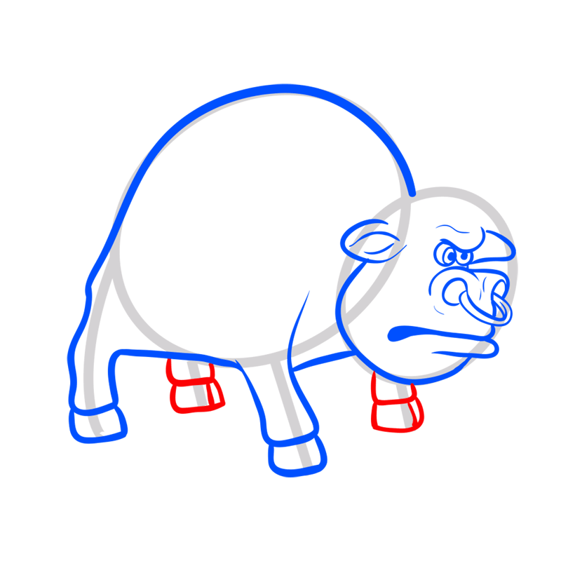 Learn easy to draw how to draw a bull drawing 6