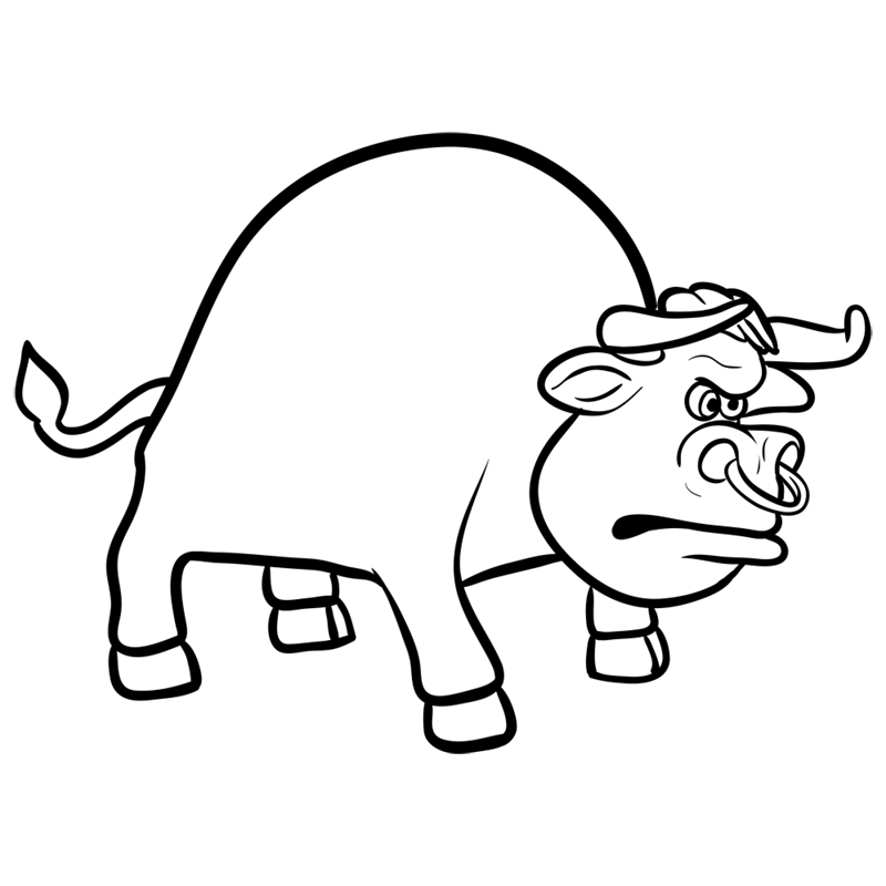Learn easy to draw how to draw a bull drawing 8