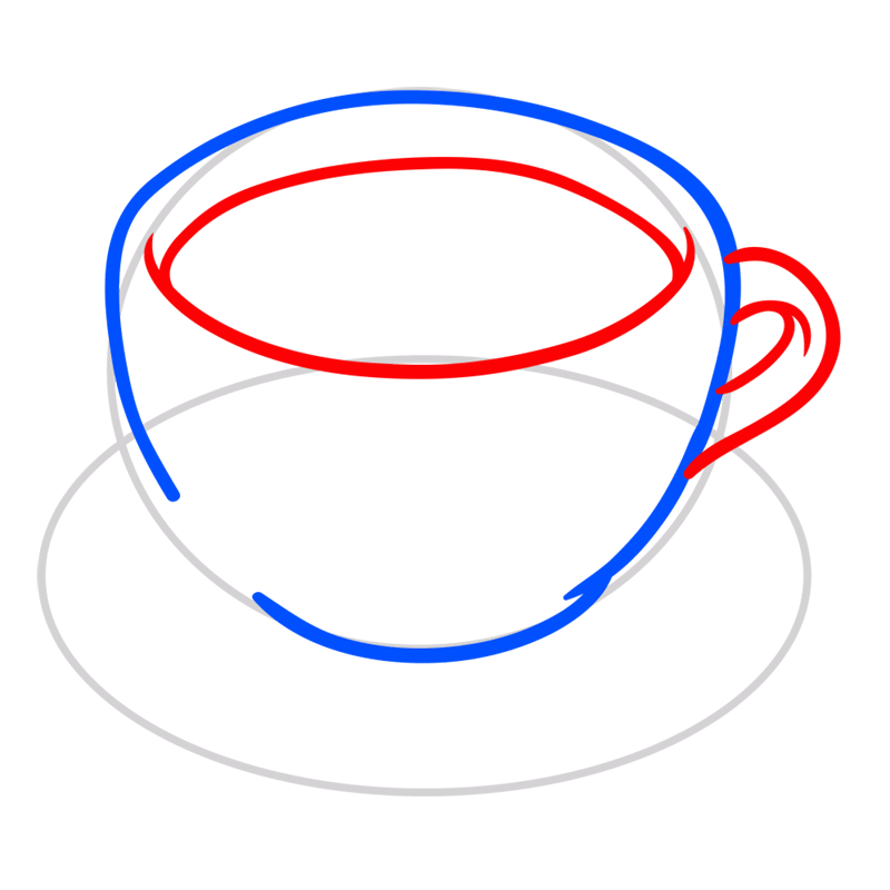 Learn easy to draw how to draw a cup coffee drawing 3