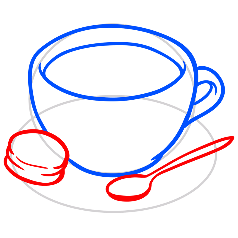 Learn easy to draw how to draw a cup coffee drawing 4