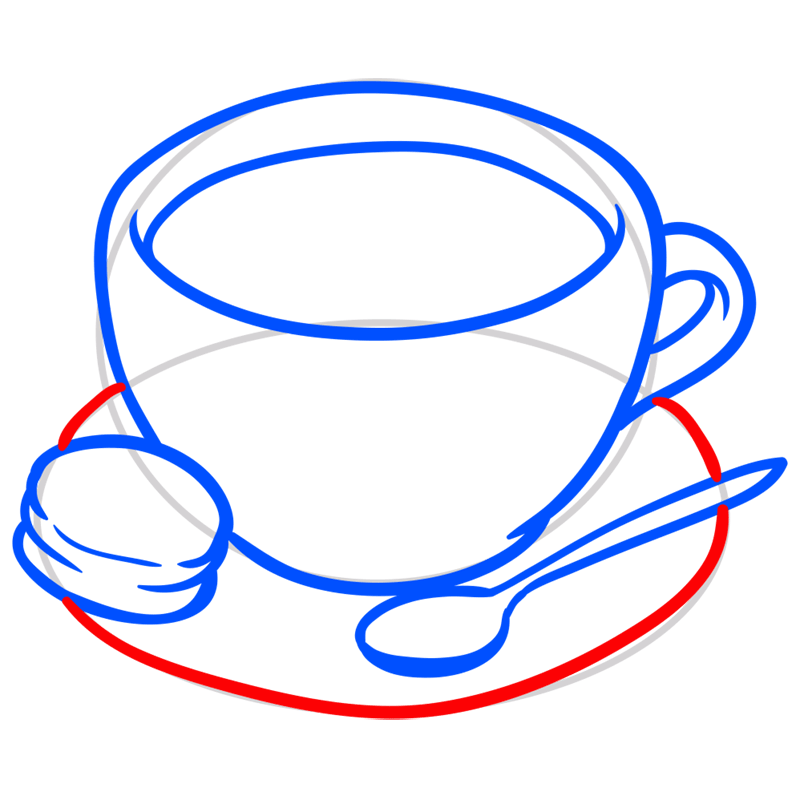 Learn easy to draw how to draw a cup coffee drawing 5