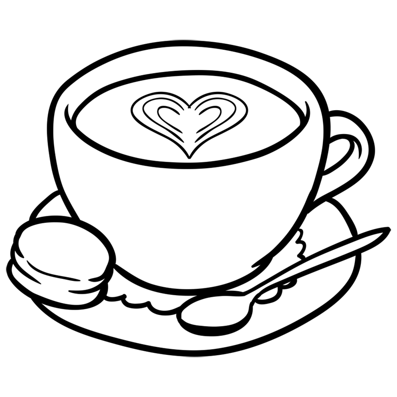 Learn easy to draw how to draw a cup coffee drawing 7