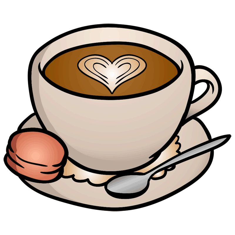 Learn easy to draw how to draw a cup coffee drawing 8