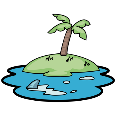 Learn how to draw a island drawing