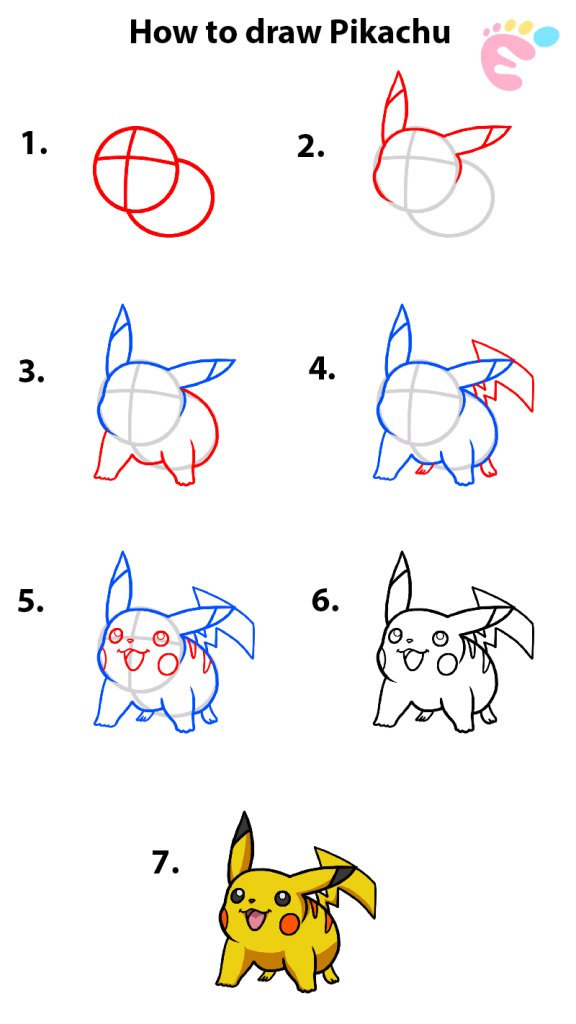 Learn easy to draw how to draw pokemons pikachu drawing 576x1024